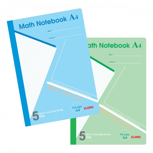 Vở Caro A4 Math Notebook - 200 trang; MS 298
